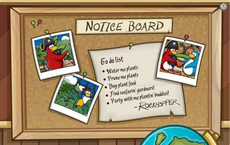 Rockhopper Notice Board